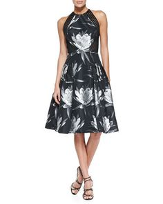 CARMEN MARC VALVO Sleeveless Floral Party Dress $695  (Compare Elsewhere $800) SHIPS FREE BEST PRICES YOU WILL FIND ANYWHERE ON GENUINE LADIES DESIGNER BRANDS! FREE WORLD SHIPPING & LOCAL DELIVERY AVAILABLE AT THE SURF CITY SHOP in Huntington Beach, California Major Credit Cards Accepted