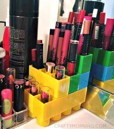 Lego Duplo Lipstick Storage Hack - Crafty Morning