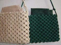 Tutorial for making Macrame bags and purses!