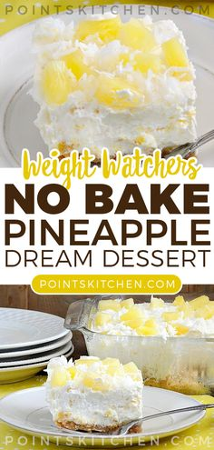 Baked pineapple - No Bake Pineapple Dream Dessert dessert nobake pineapple weightwatchers weight watchers lowcarb ketogenic slimmingworld Weight Watchers Cheesecake, Weight Watchers Snacks, Weight Watcher Recipes, Weight Watchers Meatloaf, Baked Pineapple, Pineapple Desserts, Pineapple Recipes Healthy, Pinapple Dream Dessert, Pineapple Dream Pie Recipe