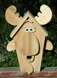 Mr Moose Cedar Birdhouse by NWoutdoor on Etsy, $55.00
