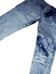 Peça desenvolvida por Canaã Customização. #modajeans #universocanaa #canaacustomizacao #jeans #customizacao #calcajeans #feminina @canaacustomizacao
