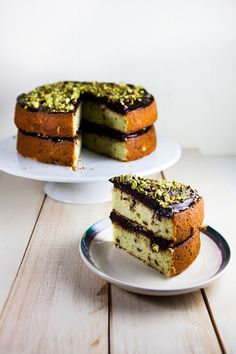 Hummingbird High: Chocolate and Pistachio Cake