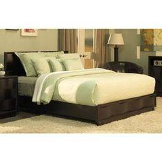 Nebraska Furniture Mart – Modus Furniture Queen Platform Bed in Chocolate Brown