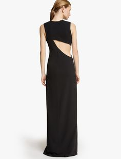 2015 Halston Heritage Open Back Crepe Gown