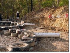 Here we are in Queensland, May 2013, half way through an Earthship build. It is the first one to be built in Australia and has been experimental in many ways.