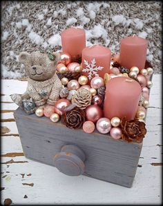 Simple And Popular Christmas Decorations, Table Decorations, Christmas Candles, DIY Christmas Center Rose Gold Christmas Decorations, Christmas Candles, Christmas Balls, Xmas Decorations, Winter Christmas, Christmas Wreaths, Christmas Crafts, Christmas Ornaments, Simple Christmas
