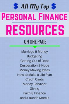 All of my best personal finance articles available to you on one page!    Just Click the Pic to get access to all my top resources on the Celebrating Financial Freedom blog.  #finance #resources #money #personalfinance  http://www.cfinancialfreedom.com/resources
