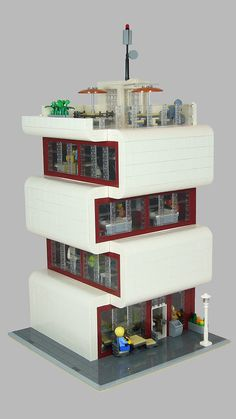Modernes Bürogebäude (Modern Office Building) 01 – New Ideas – Architecture Cultural Architecture, Classic Architecture, Commercial Architecture, Concept Architecture, Modern Office Building, Lego Modular, Lego Room, Home Design, Lego Design