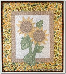 Sunflower Wall Hanging Kit-Fabrics N Quilts