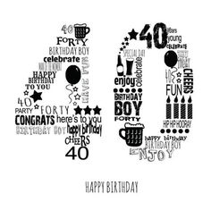 Leading Illustration & Publishing Agency based in London, New York & Marbella. 40th Birthday Images, Happy Birthday Cheers, 40th Bday Ideas, 40th Birthday Quotes, 40th Birthday Decorations, 40th Birthday Cards, Forty Birthday, 40th Birthday Parties, Birthday Pictures