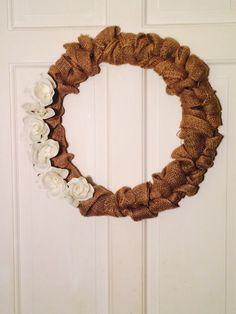 DIY Burlap Wreath :)