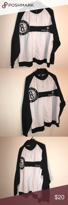 Brooklyn Nets Zip Up Jacket HELLO EVERYONE, I AM OFFERING AN AWESOME  Brooklyn Nets Zip Up Jacket     This Brooklyn Nets Zip Up Jacket is In Great Condition, Size is a 2 XL    Please SEE THE PICTURES FOR MORE DETAIL     Thanks For looking   ALL ITEMS WILL BE PACKED SECURELY, Jackets & Coats