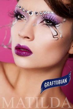 Fantasy Makeup Graftobian Make-Up Co Jewel Makeup, Goth Makeup, Makeup Art, Beauty Makeup, Makeup Style, Body Glitter, Glitter Makeup, Engel Make-up, Catwalk Makeup