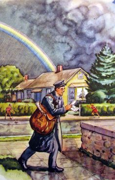 vintage postman illustrations - Google Search