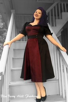 Love this cut and color.  Rockabilly Dress