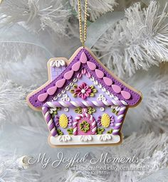 Handcrafted Polymer Clay Gingerbread House Ornament by Kay Miller at Etsy by kinda.conger