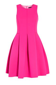 Sleeveless Neoprene Scuba Dress by Tibi - Tibi - New Fashioned Cute Dresses For Party, Hot Pink Dresses, Party Dress, Short Dresses, Fuchsia Dress, Rosa Style, Winter Typ, Party Frocks, Scuba Dress