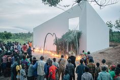 OMA-designed white cube gallery in DR congo highlights the plight of plantation workers