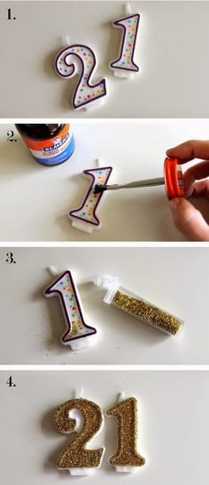 DIY glitter candles if you're in a pinch!