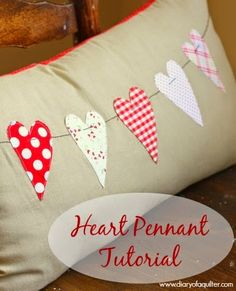 Valentine Throw Pillow Tutorial - Diary of a Quilter - a quilt blog