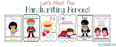 Handwriting Hero Program is a convenient and appealing way to promote handwriting rules and printing practice in both the school and home/community settings. Superhero Classroom, Superhero Room, Handwriting Recognition, Printing Practice, Pediatric Occupational Therapy, Improve Handwriting, Kindergarten Language Arts, Handwriting Analysis, Special Education Classroom