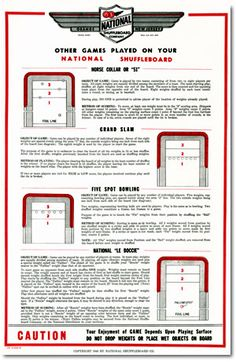 how to play table shuffleboard