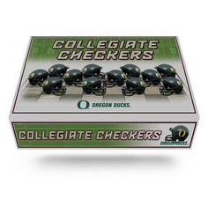 Oregon Ducks NCAA Checkers Set