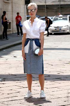 Thestreetfashion5xpro: In the Street…Reverse Jeans...Linda Tol, Milan