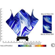Jezebel Radiance® Large Flame Blue and White Vase Lamp