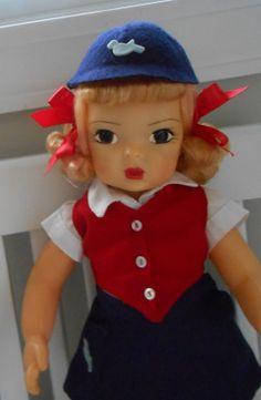 Doll Terri Lee Blonde Raysheen Wig Bluebird Scout Uniform Scouting Tagged 1950 | eBay