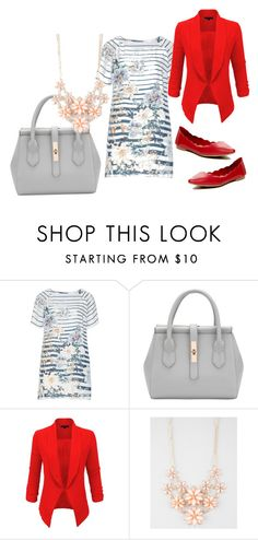 """Navy"" by jiroutconsulting on Polyvore featuring Open End, LE3NO, Full Tilt and MIA"