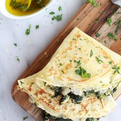 spinach artichoke and brie crepe