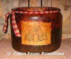 Primitive Jar Candles by Cabin Fever Primitives
