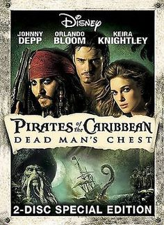 Pirates of the Caribbean: Dead Man's Chest (DVD, 2006, 2-Disc Set, Widescreen...