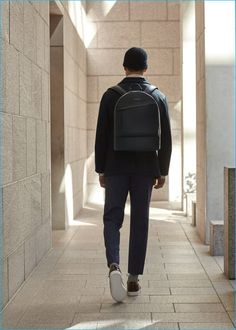 LES Want Essentiels Kastrup Navy Backpack and  Lennon Sneakers