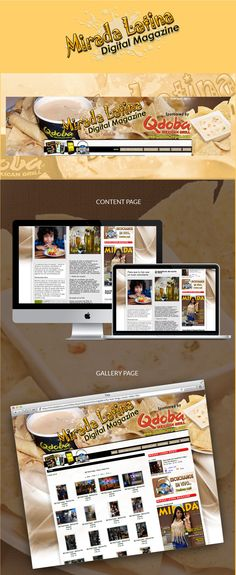 Joomla base site for Mirada Latina Magazine.