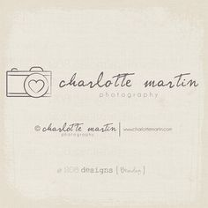 Premade Logo and Watermark - Photography - Simple Logo AND Copyright Watermark Handwritten Style (1279)