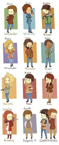 Chibi Supernatural Hunters #Supernatural