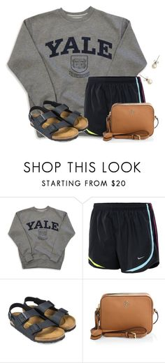 """When you wanna go shopping but you just went the other day"" by flroasburn on Polyvore featuring NIKE, Birkenstock, Tory Burch and J.Crew"