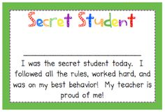 Primary Possibilities: Positive Behavior Rewards Secret Student in a magnetic container on board...