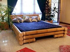 Cheap Rattan And Bamboo Bedroom Furniture, Bamboo Beds, Rattan Headboards Bamboo Bed Frame, Bamboo Sofa, Wooden Bed Frames, Bamboo Furniture, Bamboo Tree, Contemporary Dining Room Furniture, Rustic Bedroom Furniture, Home Furniture, Furniture Design