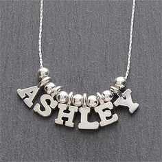 One & Only Silver Personalized Necklace - 5-8 Letters - #7705D-L