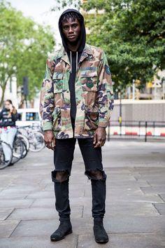 Visual Camuflado estilo Streetwear para homens!