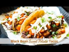These Black Bean & Sweet Potato Tacos are gluten free and vegetarian. They make a great breakfast, lunch or dinner taco recipe.