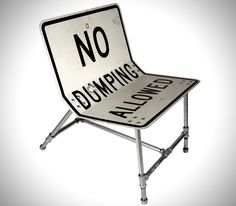Recycled Road Sign Furniture