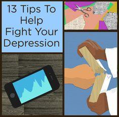13 Tips To Help Fight Your Depression (Nov Managing Depression, Depression Self Help, Understanding Depression, Dealing With Depression, Depression Symptoms, Depression Bipolar, Fighting Depression, Health Psychology, Mental Health