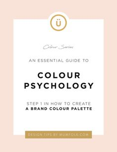 An Essential Guide to Color Psychology Social Media Branding, Branding Your Business, Personal Branding, Creative Business, Visual Identity, Business Tips, Brand Identity, Marketing Branding, Craft Business