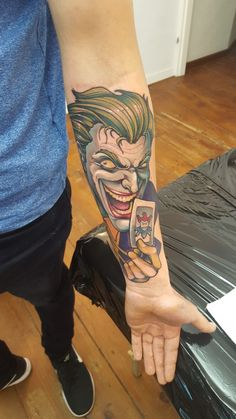 Joker insane tattoo smile  dc comics