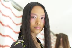 NYFW's Craziest (& Coolest!) Beauty Trends #refinery29  http://www.refinery29.com/36669#slide-8  At first glance, it looks like Lancôme's Daniel Martin got a little too carried away with the blush. But, after staring at this rosy gaze for a bit longer, we've convinced ourselves that we actually kind of like it. While we won't be swirling our blusher across our eye sockets, we do like the idea of a sheer wash of dusty rose accented with a pearly highlight on the inner corner of our ...